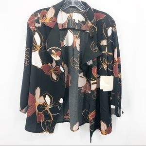 14th & Union Floral Trapeze Jacket NWT Small
